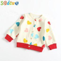 BaBy Boy velvet jacket online shopping - Sodawn Autumn Winter Baby Jacket Baby Boys Girls Plus Velvet Cartoon Pattern Long Sleeved Clothes Jacket M Clothing