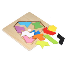 $enCountryForm.capitalKeyWord Australia - Wooden Jigsaw Puzzle Diamond Board Tangram Early Educational Develoment Toys Gifts for Kids Encourage hand-eye coordination