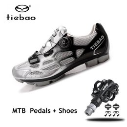 Cycle Pedals Australia - Tiebao sapatilha ciclismo mtb Cycling shoes pedales bicicleta mtb 2019 women men SPD Pedals self-locking mountain bike shoes