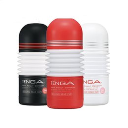 tenga male toys NZ - TENGA 3 Styles Masturbation Cup Sex Toys for Men Male Masturbator Realistic Vagina Rolling Head Pussy Anal Penis Trainer Y200421
