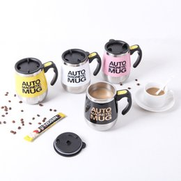 lazy mug Australia - Stainless Steel Magnetic Self Stirring Mug Anti-scalding Cover Of Milk Mixing Mug Automatic Electric Lazy Smart Coffee Mix Cup