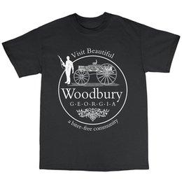 $enCountryForm.capitalKeyWord Australia - Woodbury Georgia Walking Dead Inspired T-Shirt 100% Cotton Rick Grimes Zombie Classic Quality High t-shirt Style Round Style tshirt