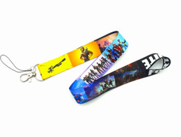 Badge Accessories Australia - Wholesale 3 designs FORTNITE Necklace Lanyard ID Badge Key Holder Chain BATTLE ROYALE gamer gaming accessories