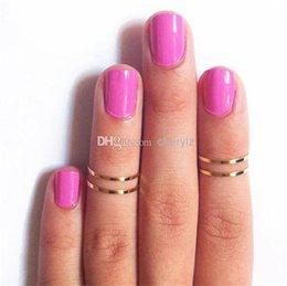 Christmas Gift Nails Australia - Women Band Midi Ring Urban Gold stack Plain Cute Above Knuckle Nail Ring Christmas Gift 1286