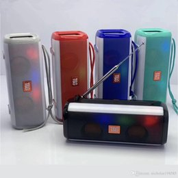$enCountryForm.capitalKeyWord Australia - TG Series TG144 Wireless Bluetooth Speaker Mini Protable LED Light Flash Mp3 Music Player With Radio Antenna For Tablet PC Smart-phone