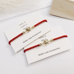 $enCountryForm.capitalKeyWord Australia - Chinese Style 12 Zodiac Piglet Birth Year Red Rope Bracelet Female Male Couple Transfer Beads Hand Rope New Year Gift Fashion Jewelry