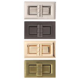 Metal Turnings Australia - Metal Clasp Turn Lock Twist Lock for DIY Handbag Craft Bag Purse Hardware 4x2.2cm