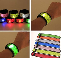 $enCountryForm.capitalKeyWord Australia - Led Wristband Sport Slap Wrist Strap Bands Light Flash Bracelet Glowng Armband Strap For Party Concert Armband In XMAS Halloween D0874