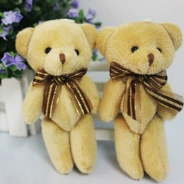 Soft Toy Bouquets Wholesale Australia - Stuffed Plush Lovely Holiday Teddy Bear Soft Gift Doll Baby Toy for Bouquet 1Pcs