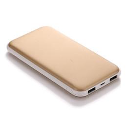 Mah Power Bank Charger Dual Usb Australia - Portable USB Blue Power Plastic 2A Bank External Ports Charger mAh Pink Gold 7000 Black 1A mAh Battery Dual 10000