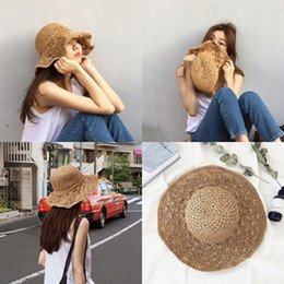 hat free Australia - 2019 Women's Fashion Simple Outdoor Sun-shading Straw Hat Beach Travel Sunscreen Big Cornice Hat Free Shipping
