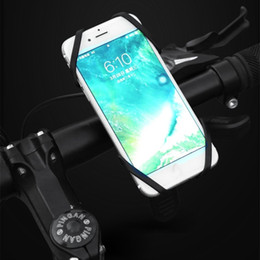 Handlebar Gps Australia - Universal Bike Bicycle Motorcycle Handlebar Mount Holder Phone Holder With Silicone Support Band For Iphone Samsung XIAOMI GPS #80399