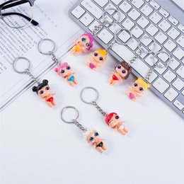 big eyes handbags 2019 - Event Dolls Keychain Big Eye Doll Keyring Fashion Keys Ring Handbag Chain Pendant Cartoon keychains Gift Party Favor 511
