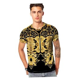 Snakes Hair Australia - Hot Italian fashion VER Brand men's T-shirts V0002 Luxury designer Summer short-sleeved Snake hair lady 3D Print tees Shark Skull PP D2 Tops