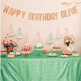 $enCountryForm.capitalKeyWord Australia - Light Green rose Gold pink blue champagne black Sequin Tablecloth 60*102inch Glitter Table Cloth For Wedding Decoration birthday T8190620