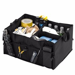 waterproof storage boxes large 2019 - Multifunctional Foldable Auto Car Vehicles Storage Box Waterproof Large Capacity Container Bag Organizer Trunk Box disco