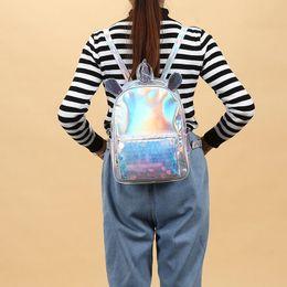 $enCountryForm.capitalKeyWord Australia - Bentoy Unicorn Paillette Laser Hologram Backpack Women Traval Laptop BackBag Best Quality Fashion Rucksack Girls Mochila Bag