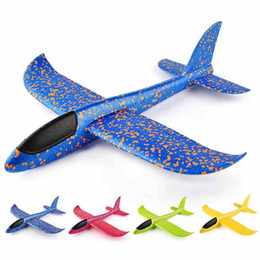 airplane bags NZ - 48cm DIY Hand Throw Flying EPP Glider AirPlanes Toy For Children Foam Aeroplane Model Party Bag Fillers Flying Glider Plane Toys Game