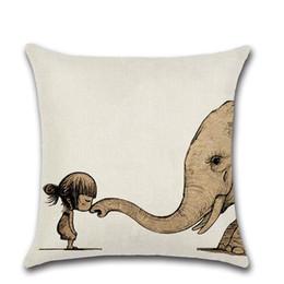 Chinese  Elephant Head Animal Combination Animal Elephant Dinosaur Shark Living Room Sofa Hug Pillowcase Car Cushion Cover Pillow Case manufacturers
