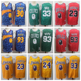 962635d8f59 Men Larry 33 Bird Jersey LeBron 23 James Kobe 24 Bryant 23 Michael Stephen  30 Curry Basketball Jerseys Home Blue Red Yellow Green