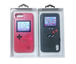 $enCountryForm.capitalKeyWord Australia - For iphone 6 7 8 8 Plus X XS Max XR 2 in 1 Handheld Game Console phone case Silica gel protective sleeve Color LCD Retro Game machine player