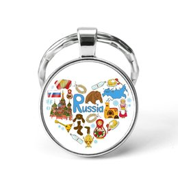 Russia Coin Australia - Style4 Quotes Jewelry Ethnic Style Keychain Russia USA France Italy Finland Indianationality Keyring Glass Cabochon Keyring Keychain