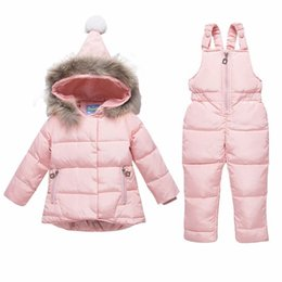 Beautiful Russian Winter Warm Children Clothing Sets White Down Baby Boys Girls Set Baby Outwear Waterproof Ski Suit Girl Jackets Boys' Clothing Clothing Sets