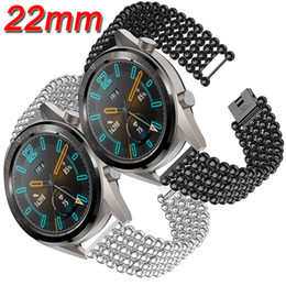 $enCountryForm.capitalKeyWord Australia - Stainless Steel Watch Band Strap For HUAWEI WATCH GT 46mm Vigor Fashion Style Metal Beads Replacement Bracelet 22mm Watchband