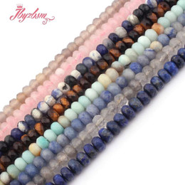 "$enCountryForm.capitalKeyWord UK - 3x6mm Faceted Mutil Stone Rondelle Spacer Loose Beads for DIY Necklace Bracelet Jewelry Making Strand15""Free Shipping Wholesale"