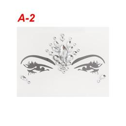 China Crystal Temporary Eyes Tattoos Face Jewelrys Transfer Eyeshadow Eyeliner Face Stickers Body Eye Makup Beauty Accessories supplier temporary eyeliner suppliers
