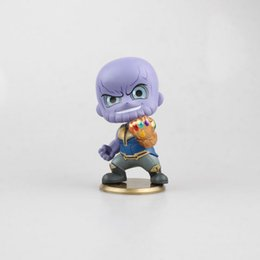 New model kids online shopping - The Avengers Action Figures Thanos Figure Shaking Head Model Cm Purple Cute With Box New Arrival lz D1