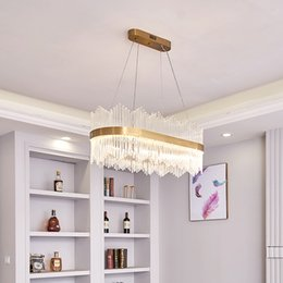 contemporary hanging lights UK - Glass chandelier lighting for restaurant villa living room bedroom dining room luxury contemporary led pendant lights golden hanging lamps