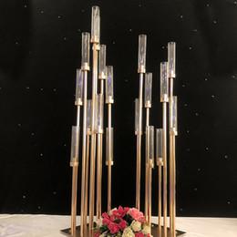 $enCountryForm.capitalKeyWord Australia - Metal Candlesticks Flower Vases Candle Holders Wedding Table Centerpieces Candelabra Pillar Stands Party Decor Road Lead