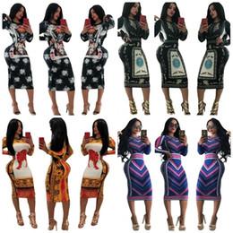 49e325295d1 Womens vintage clothing dress online shopping - Brand Designer Long Skirt  Flower Printing Hip Dress Fashion