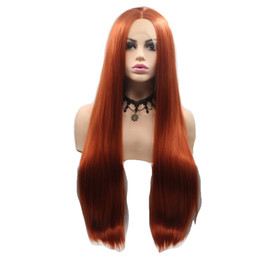 $enCountryForm.capitalKeyWord UK - Headgear Chemical Fiber Long Straight Hair Copper Red Hair Extention Simple New Top Fashion Hot Sale