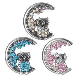Discount owl snap button - New Animals Owl Snaps Buttons Jewelry Owls Metal Snap Buttons Fit 18mm Snap Bracelet Bangle Women VN-2073