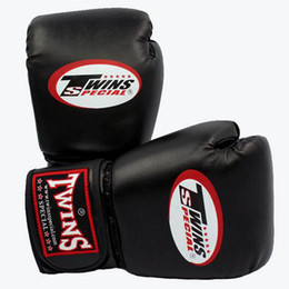 Wholesale fight gear resale online - 10 oz Boxing Gloves PU Leather Muay Thai Guantes De Boxeo Free Fight mma Sandbag Training Glove For Men Women Kids