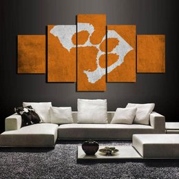 $enCountryForm.capitalKeyWord NZ - Clemson Tigers Sports Team Logo,5 Pieces HD Canvas Printing New Home Decoration Art Painting (Unframed Framed)