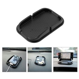 Discount shelf for mobiles - Universal Multi-functional car Anti Slip pad Rubber Mobile Sticky stick Dashboard Phone Shelf Antislip Mat For GPS MP3 F