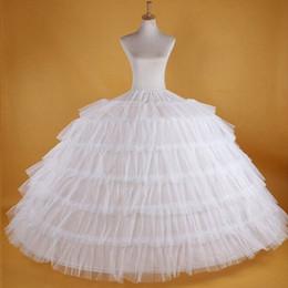 $enCountryForm.capitalKeyWord Australia - Big White Petticoats Super Puffy Ball Gown Slip Underskirt For Adult Wedding Formal Dress Brand New Large 6 Hoops Long Crinoline