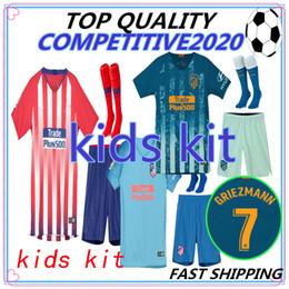 49ea0abea8c kids kit 2018 2019 Atletico Madrid GRIEZMANN Soccer Jersey KOKE Soccer  Shirt Customized SAUL DIEGO COSTA 18 19 atletico boy short football