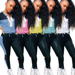 $enCountryForm.capitalKeyWord Australia - Women 2 piece set tracksuit brend disigner summer clothing letter print panelled short sleeve t-shirt leggings slim jogging suit plus size 1