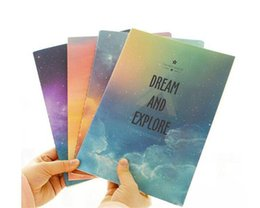 China New Galaxy Star Sky City Lights Summer Beach A6 Notebook Diary Book Exercise Composition Notepad Gift Stationery suppliers