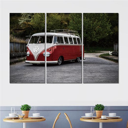 Bus Painting Australia - 3 sets HD canvas prints volkswagen bus minivan unframed Painting for wall decor fine art
