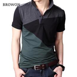 T Shirt For Men Size 5xl Australia - Plus Size 2018 Summer Casual Men T-shirt Patchwork Short Sleeve Turn-down Collar Cotton Blend T Shirt For Men Comfortable 5xl J190614