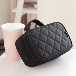 heart shaped makeup mirrors Australia - Korean Mirror Bag With Bag Compartment Type Volume Double Sandwich Makeup Brush Pocket Uwsar