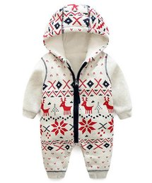 $enCountryForm.capitalKeyWord NZ - Baby Rompers autumn Winter Warm Fleece Clothing Set for Boys Cartoon Infant Girls Clothes Newborn Overalls Baby Jumpsuit 3M-24M