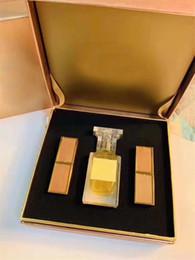 $enCountryForm.capitalKeyWord Australia - Highend brand Best selling gift box 50ml perfume & 3g lipstick 3 pcs set for girl friend good gifts high quality fast shipping.