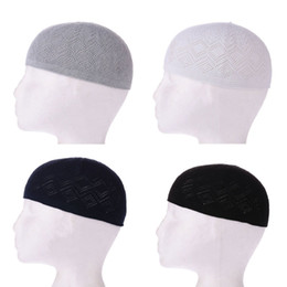 aee2e5855c6 2018 New Muslim Men Prayer Hats Beanie Turkish Arabic Knitted Hat Islamic  Caps Headscarf Clothing Arab Crochet Islamic Fashion