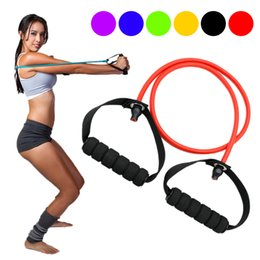 Black resistance Bands online shopping - Yoga Pull Rope Fitness Resistance Bands Exercise Tubes Practical Training Elastic Band Rope Yoga Workout Cordages GHMY